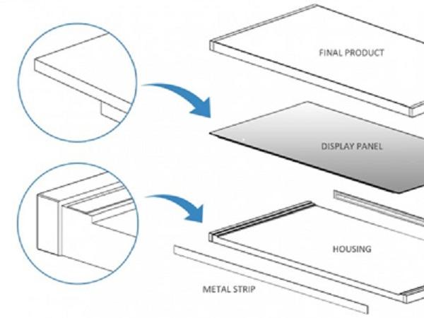 Thiết kế smartphone của Huawei gồm một khung điện thoại (housing), hai tấm kim loại (metal stripp) dán ở hai bên