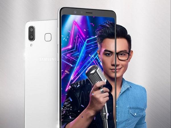 Galaxy A8 Star được thiết kế sang trọng với kim loại và kính, mỏng 7,6mm với 2 màu Trắng Titanium và Đen Thạch Anh