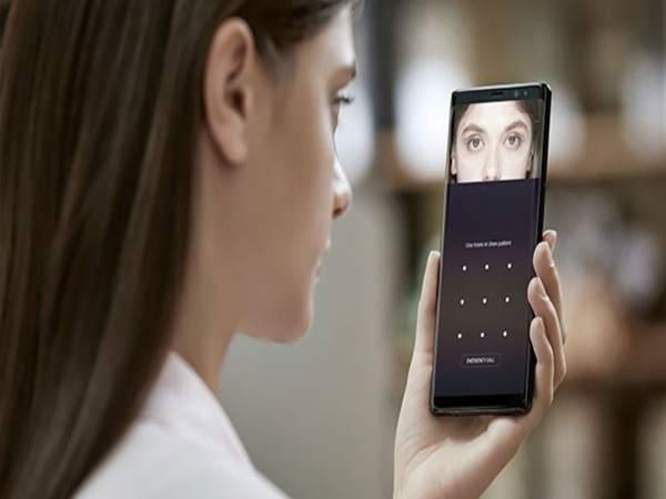 Hình ảnh giới thiệu công nghệ nhận diện gương mặt Samsung quét mống mắt
