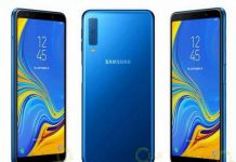 Galaxy A7 2018 có 3 camera sau