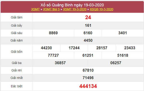 Dự đoán xổ số Quảng Bình 26/3/2020 - KQXSQB thứ 5