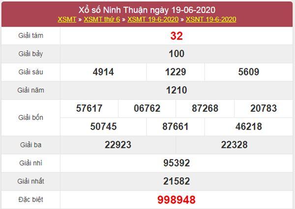 Thống kê XSNT 26/6/2020 chốt KQXS Ninh Thuận