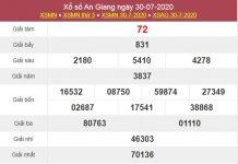Thống kê XSAG 6/8/2020 VIP thứ 5 cực chuẩn xác