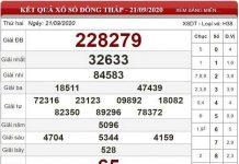Phân tích KQXSDT ngày 28/09/2020 - xổ số đồng tháp thứ 2 ngày 28 tháng 9
