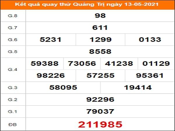 Quay thử xổ số Quảng Trị ngày 13/5/2021